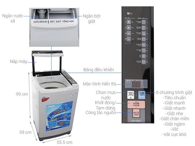 AQUA - Máy giặt đa dạng kích thước