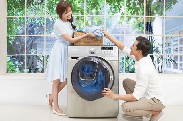 Đặt máy giặt vào vị trí cố định