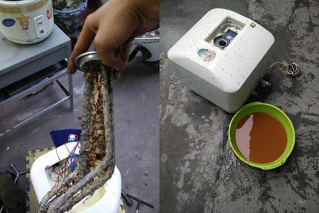 Thường xuyên kiểm tra và làm vệ sinh để loại bỏ cặn bẩn tích tụ trong bình