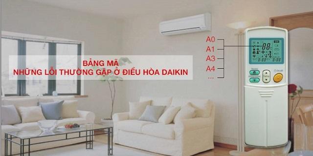 Tổng hợp mã lỗi điều hòa Daikin Inverter