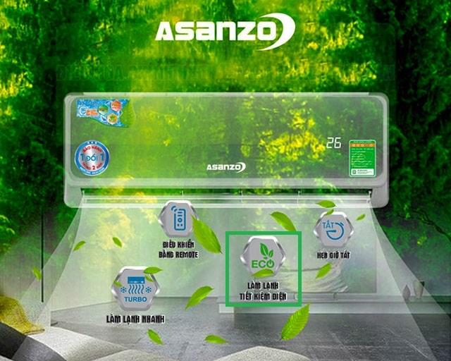 Chế độ Eco siêu tiết kiệm điện của máy lạnh Asanzo